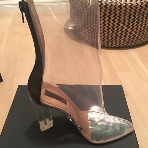 040d64939ac18 Authentic Yeezy Season 3 Clear PVC Boots 38.5